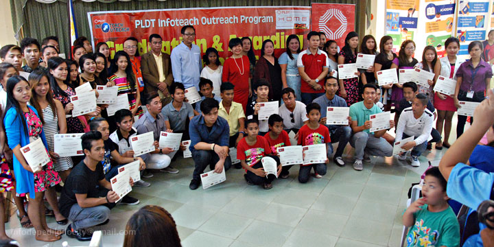 Iloilo City ALS students as PLDT InfoTeach training finishers: programs' first
